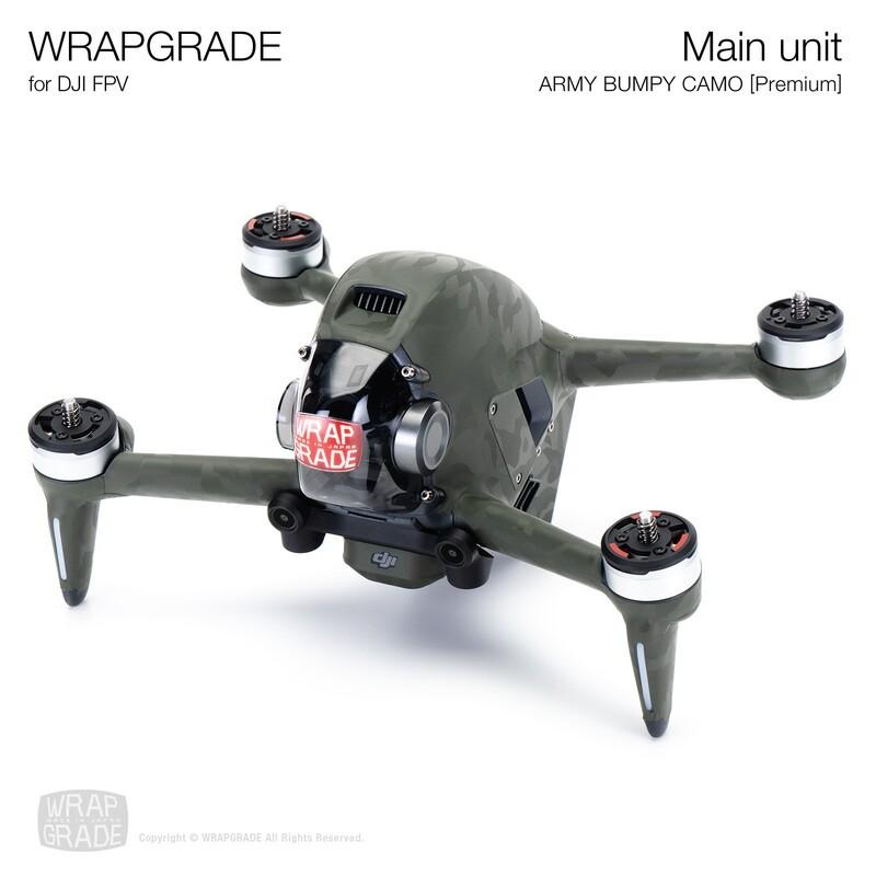 WRAPGRADE for DJI FPV   Drone (ARMY BUMPY CAMO) 【Premium】【Limited】
