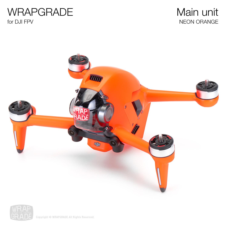 WRAPGRADE for DJI FPV   Drone (NEON ORANGE)