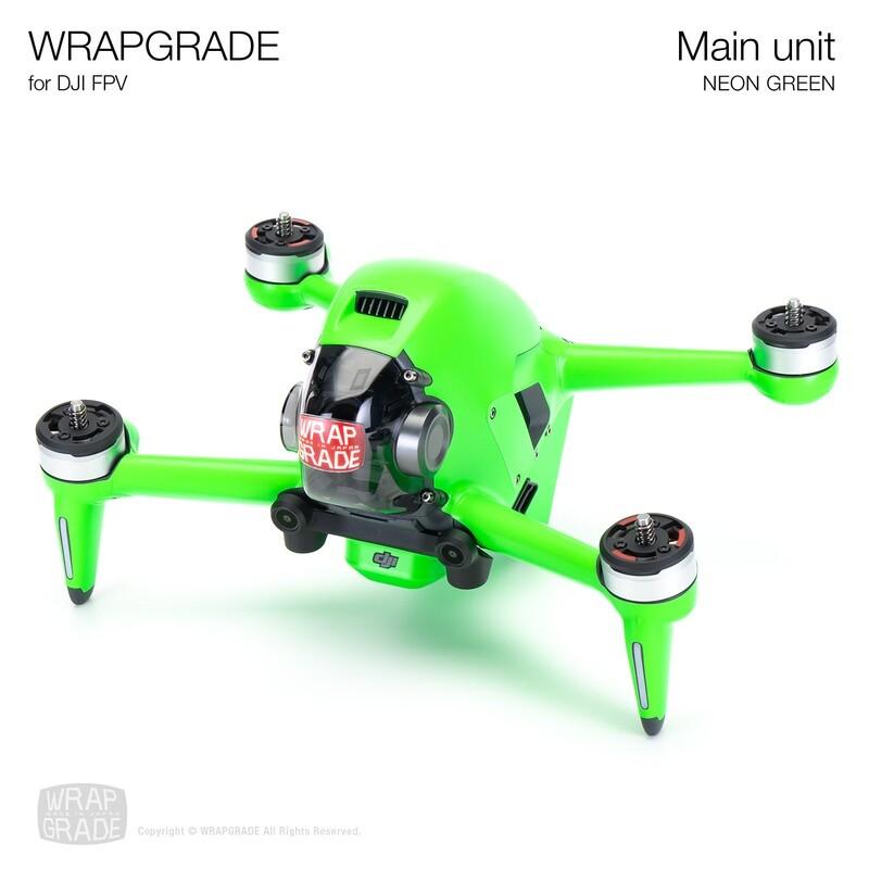 WRAPGRADE for DJI FPV   Drone (NEON GREEN)