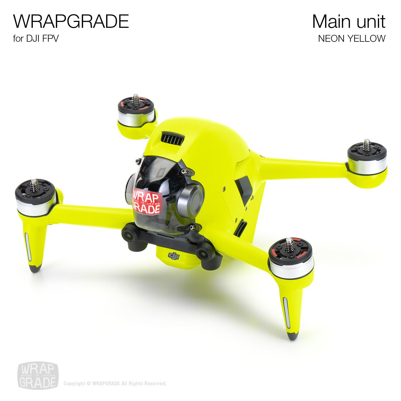 WRAPGRADE for DJI FPV   Drone (NEON YELLOW)