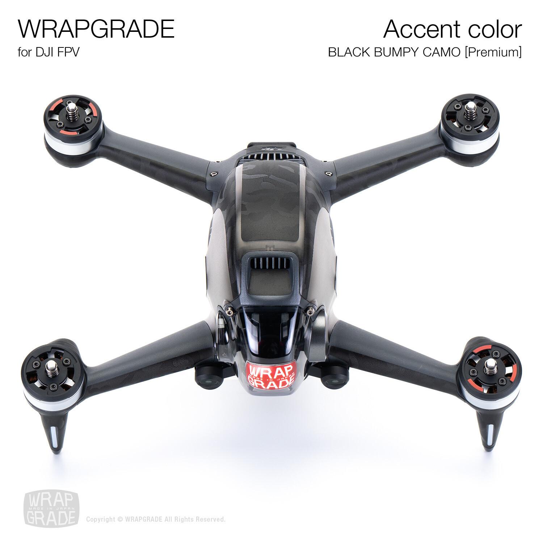 WRAPGRADE for DJI FPV | Accent color (BLACK BUMPY CAMO)【Premium】