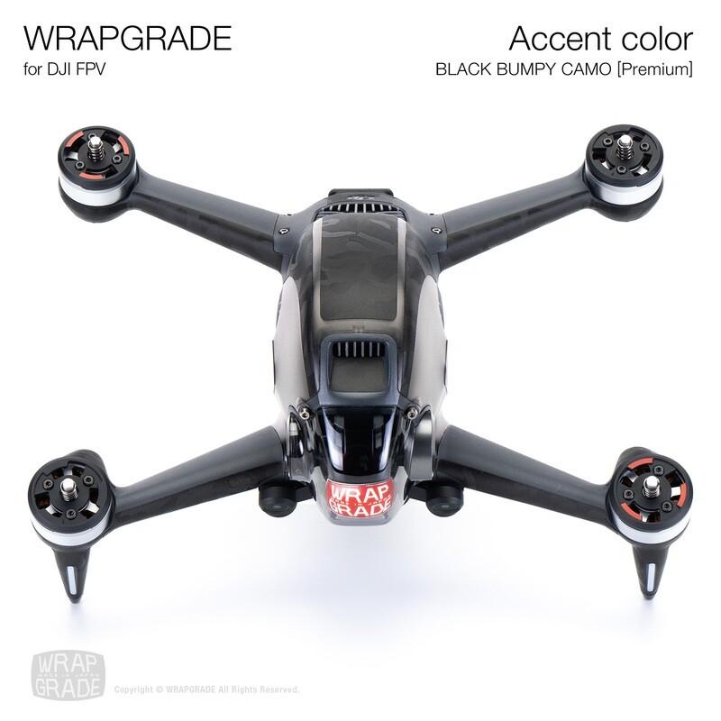 WRAPGRADE for DJI FPV   Accent color (BLACK BUMPY CAMO)【Premium】