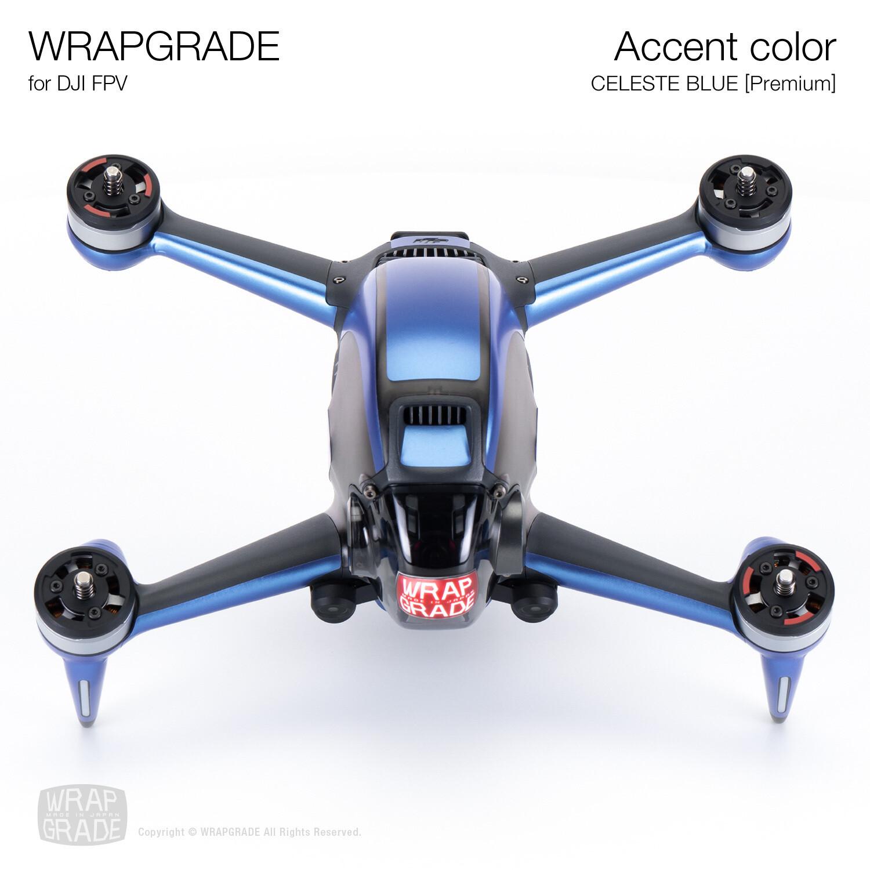 WRAPGRADE for DJI FPV | Accent color (CELESTE BLUE) 【Premium】