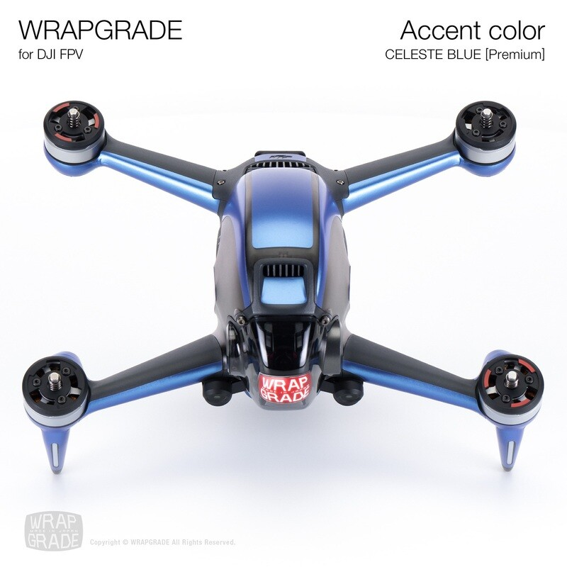 WRAPGRADE for DJI FPV   Accent color (CELESTE BLUE) 【Premium】