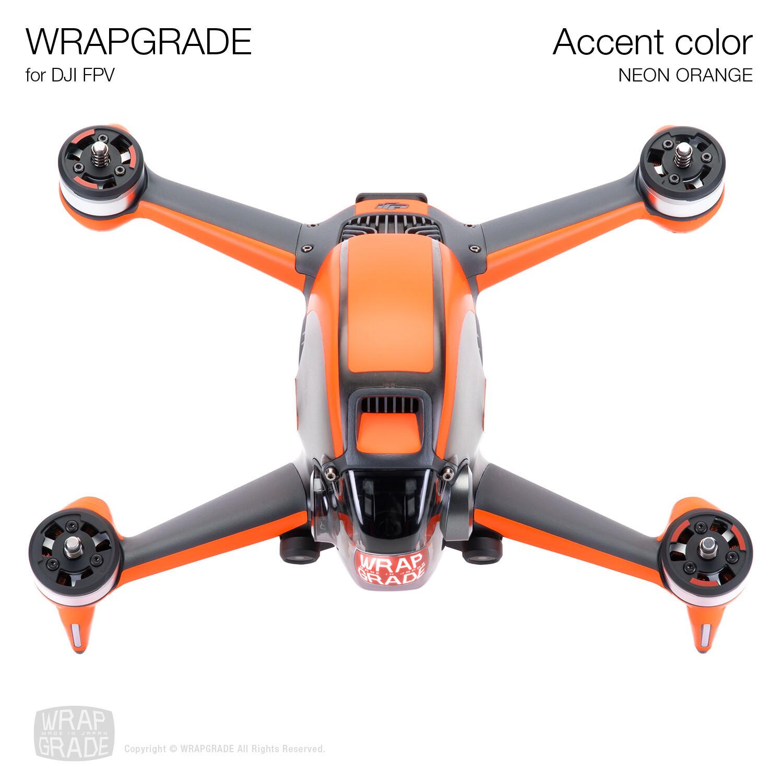 WRAPGRADE for DJI FPV   Accent color (NEON ORANGE)