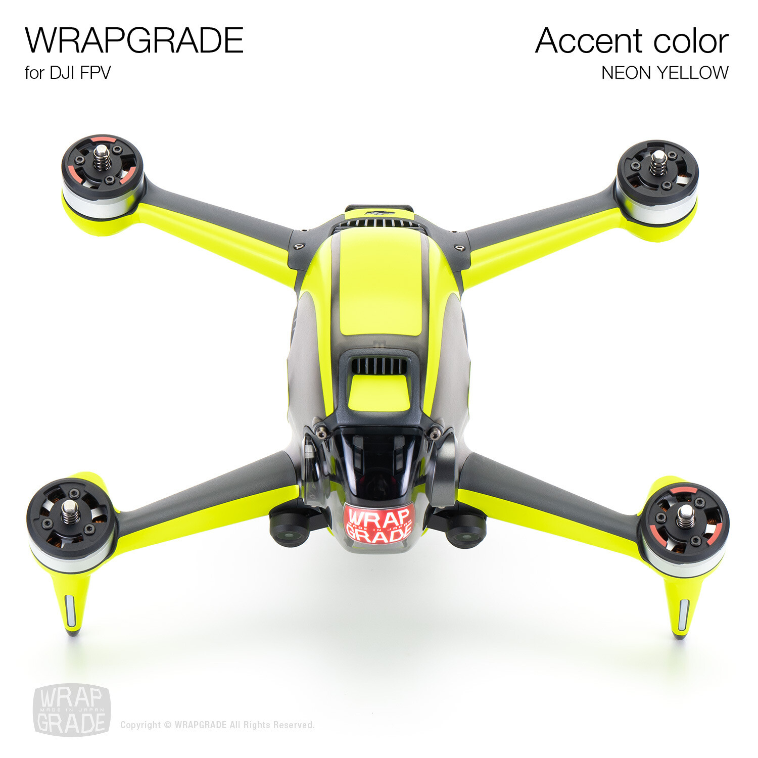 WRAPGRADE for DJI FPV   Accent color (NEON YELLOW)