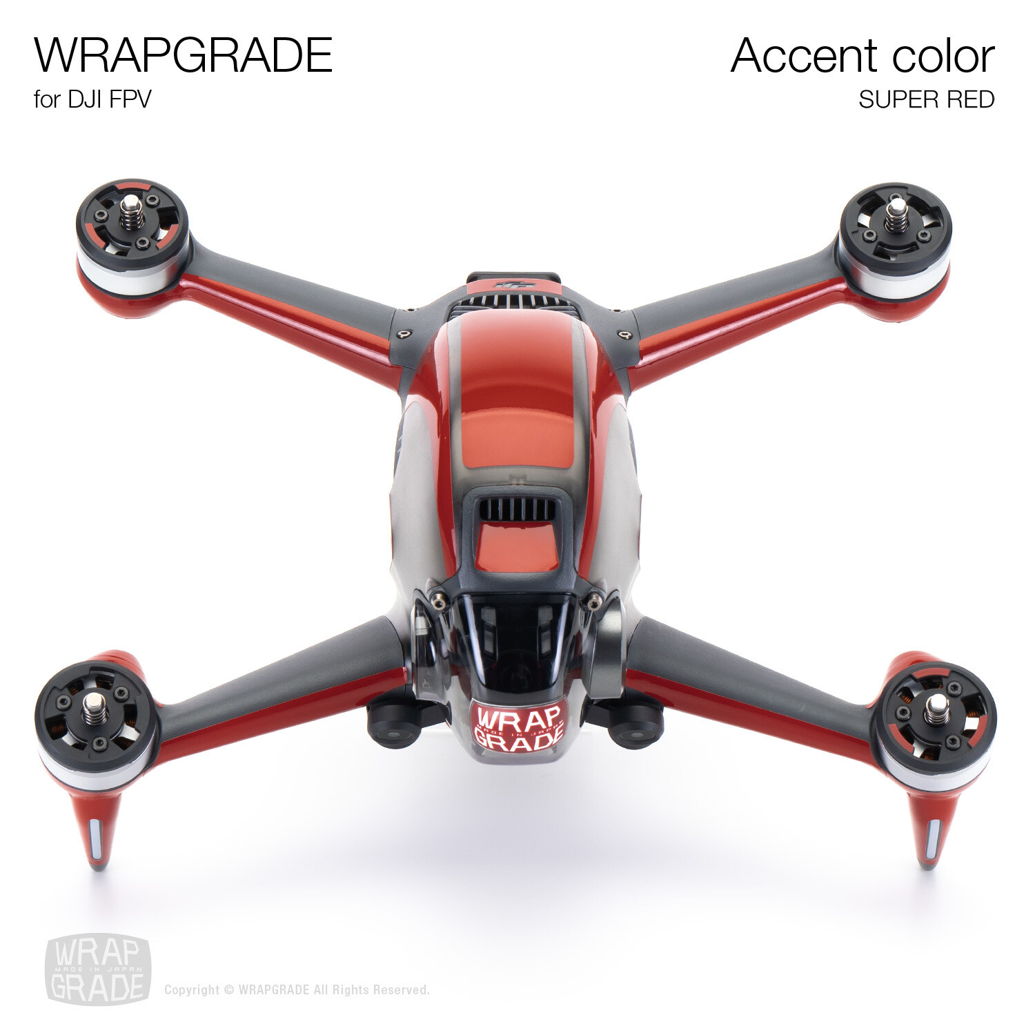 WRAPGRADE for DJI FPV | Accent color (SUPER RED)