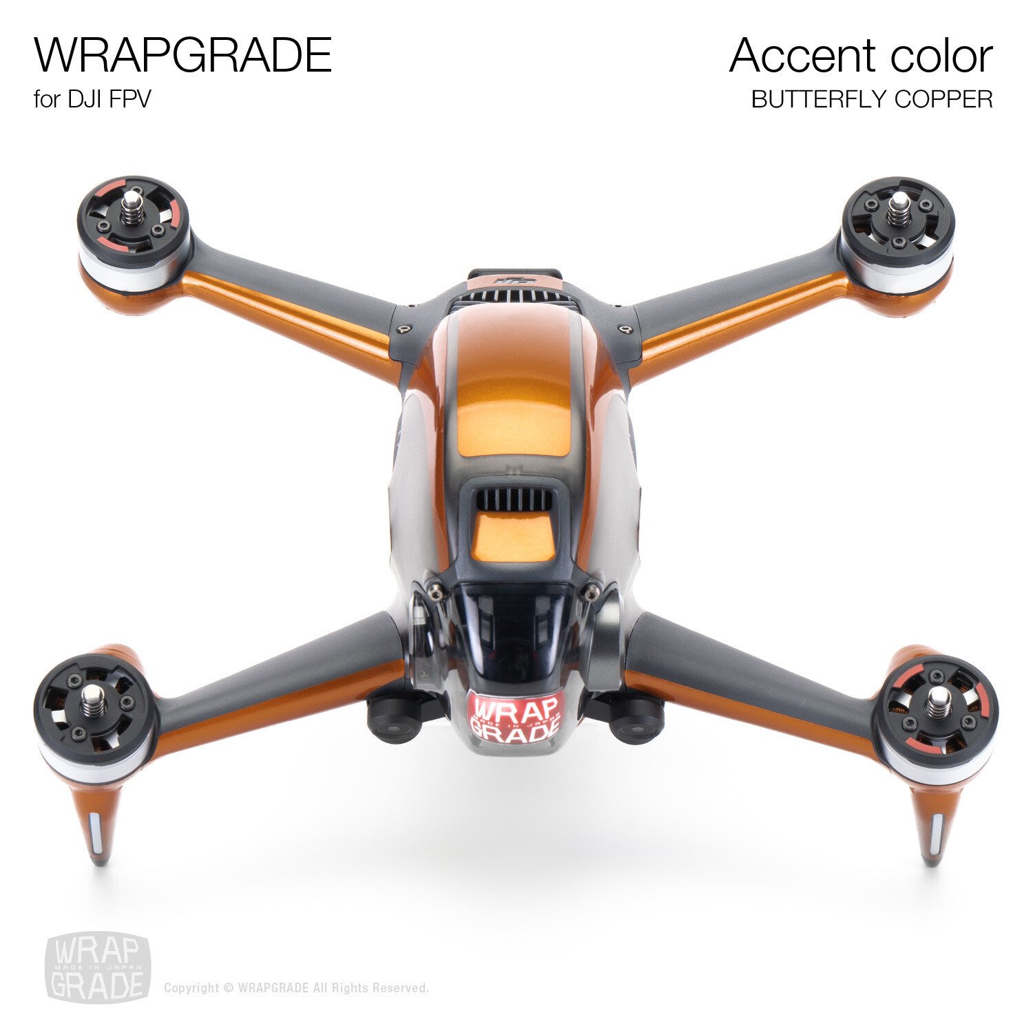 WRAPGRADE for DJI FPV | Accent color (BUTTERFLY COPPER)