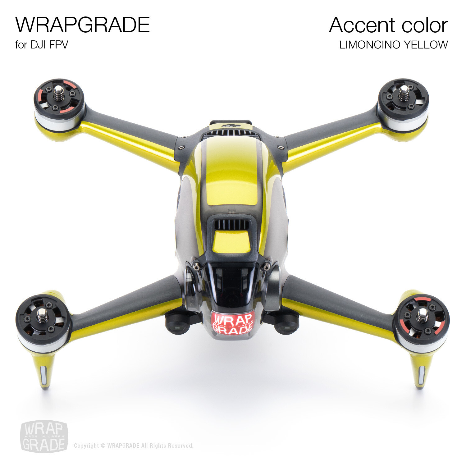 WRAPGRADE for DJI FPV | Accent color (LIMONCINO YELLOW)