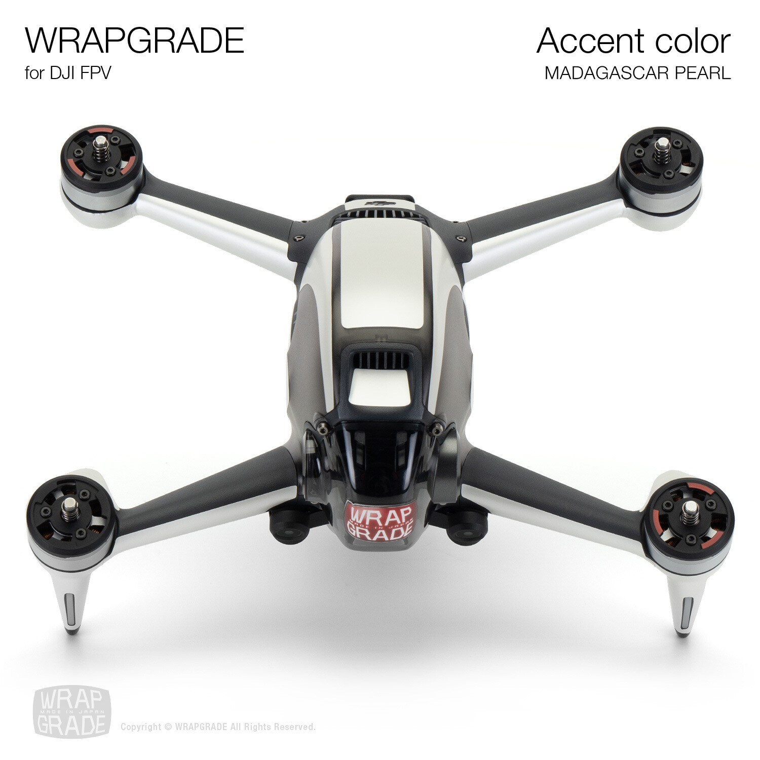 WRAPGRADE for DJI FPV | Accent color (MADAGASCAR PEARL)