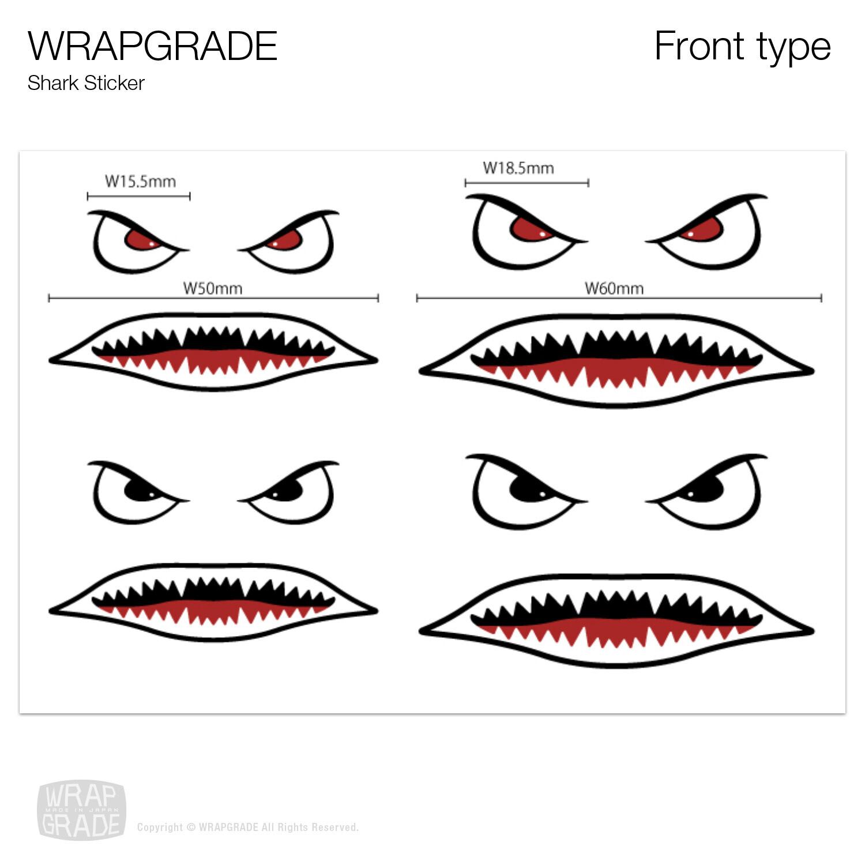 Custom parts Shark Sticker Set (2 types)