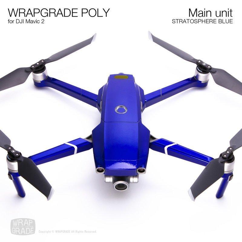 Wrapgrade Poly Skin for DJI Mavic 2 | Main unit (STRATOSPHERE BLUE)