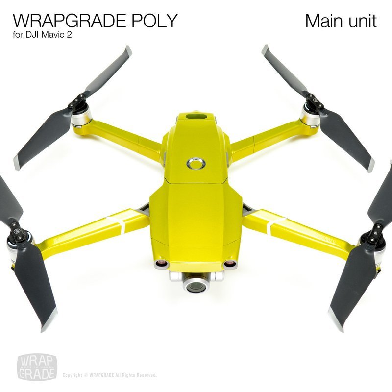 Wrapgrade Poly Skin for DJI Mavic 2 | Main unit (LIMONCINO YELLOW)