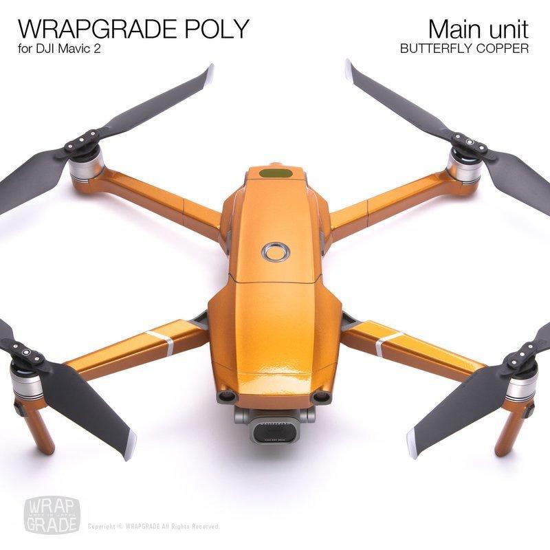 Wrapgrade Poly Skin for DJI Mavic 2 | Main unit (BUTTERFLY COPPER)