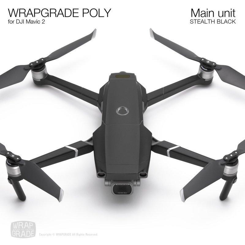 Wrapgrade Poly Skin for DJI Mavic 2 | Main unit (STEALTH BLACK)