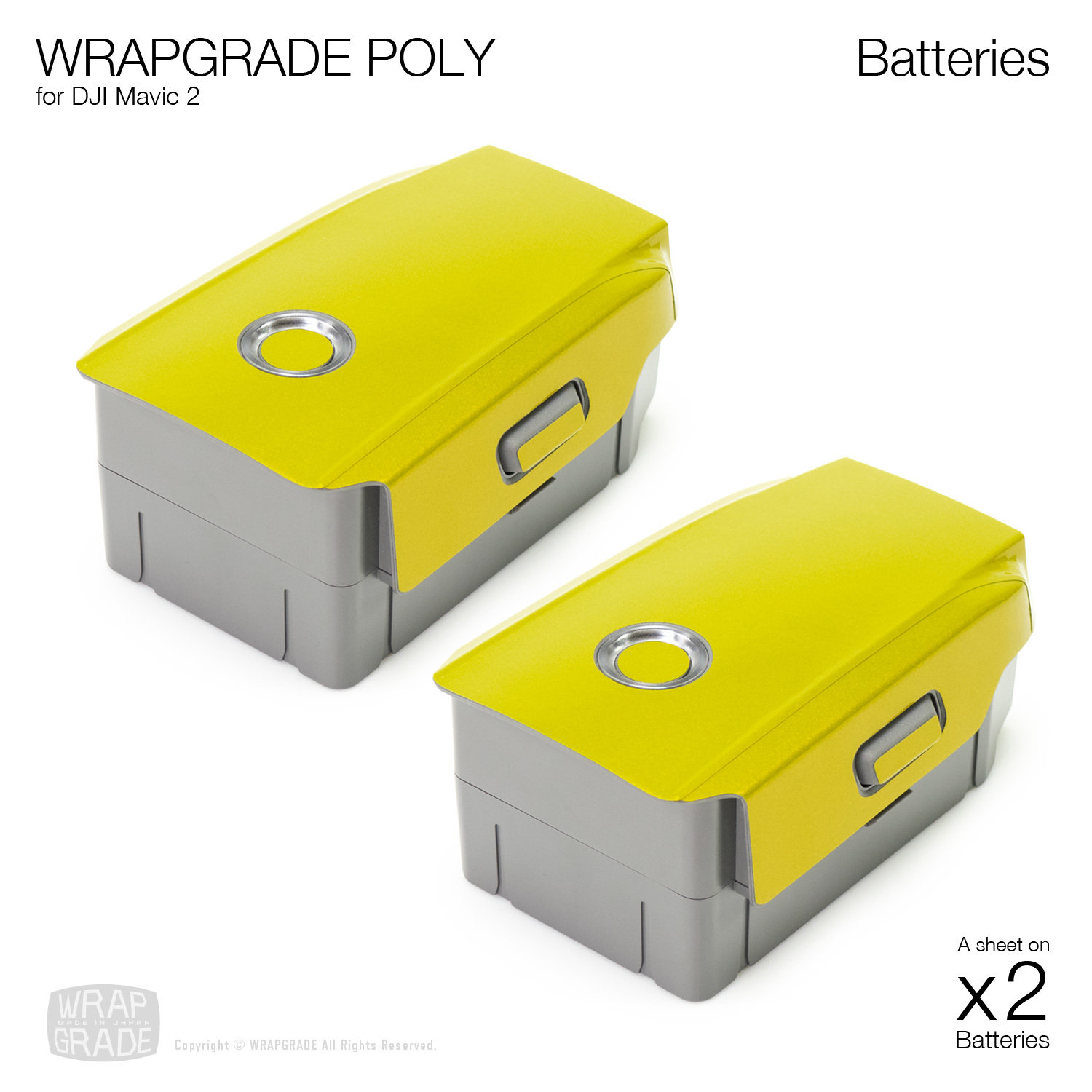Wrapgrade Poly Skin for DJI Mavic 2 | Two batteries [18 colors]