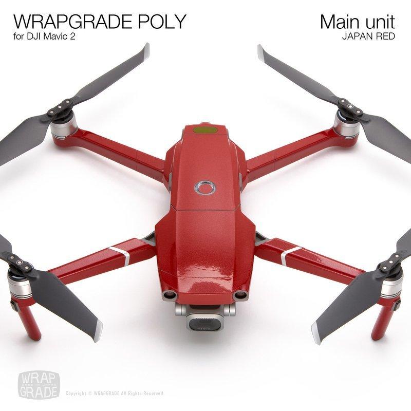 Wrapgrade Poly Skin for DJI Mavic 2 | Main unit (JAPAN RED)
