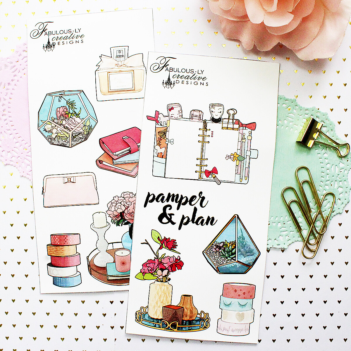 Pamper and Plan Sticker Set