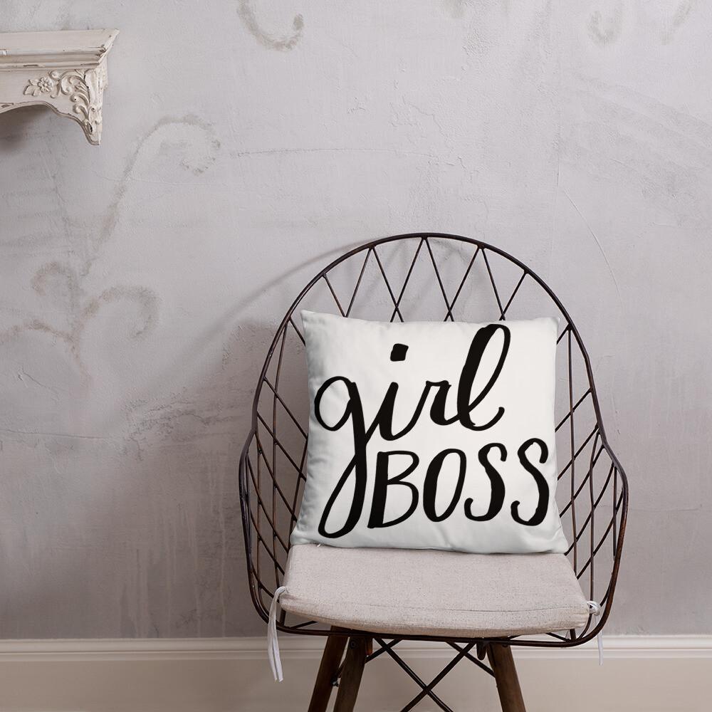 Girl Boss Pillow