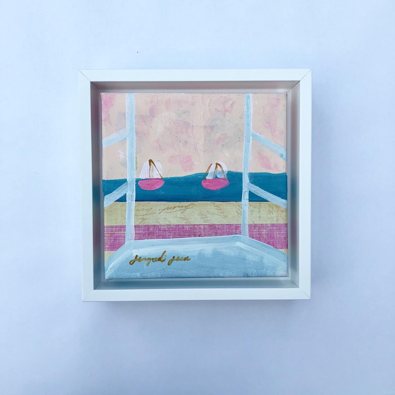 Beach Roses (6x6)