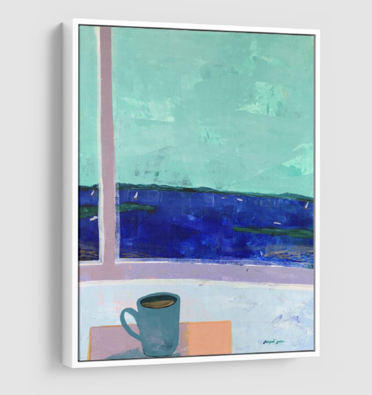 Seafoam Sail on Casco Bay (24 x 30)
