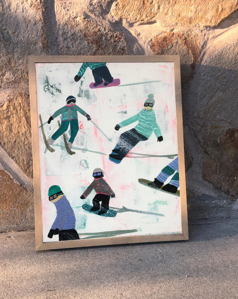 Slope Party Original (11x14) Framed No. 2
