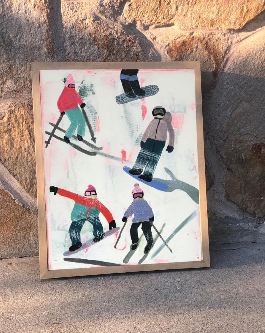 Slope Party Original (11x14) Framed No. 3