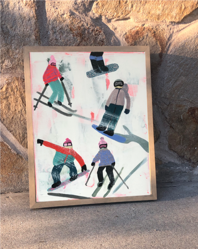 Slope Party Original (11x14) Framed No. 3