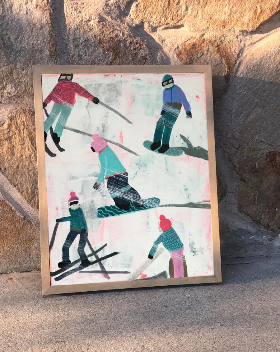 Slope Party Original (11x14) Framed No. 1