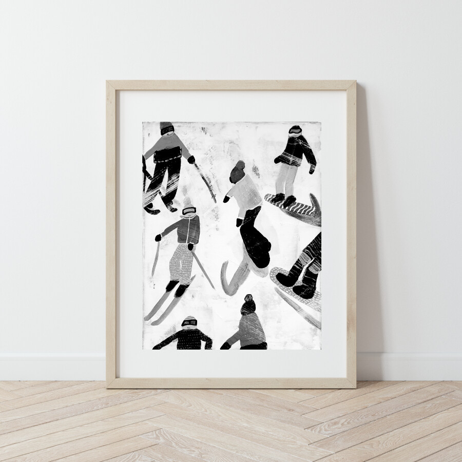 Slope Party No. 4 B+W Print