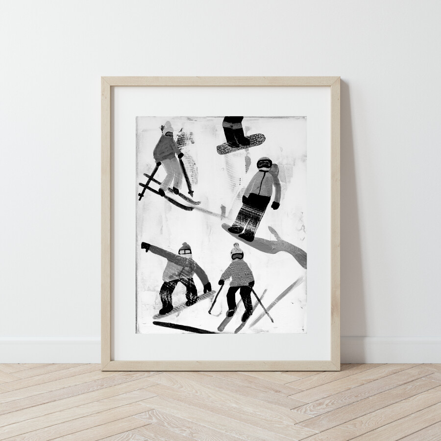 Slope Party No. 3 B+W Print