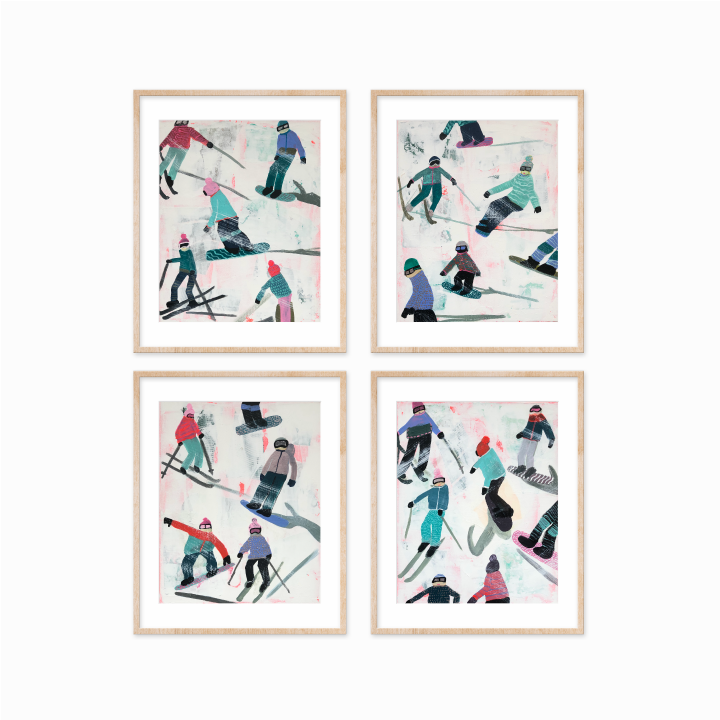 Slope Party Prints - Set of 4