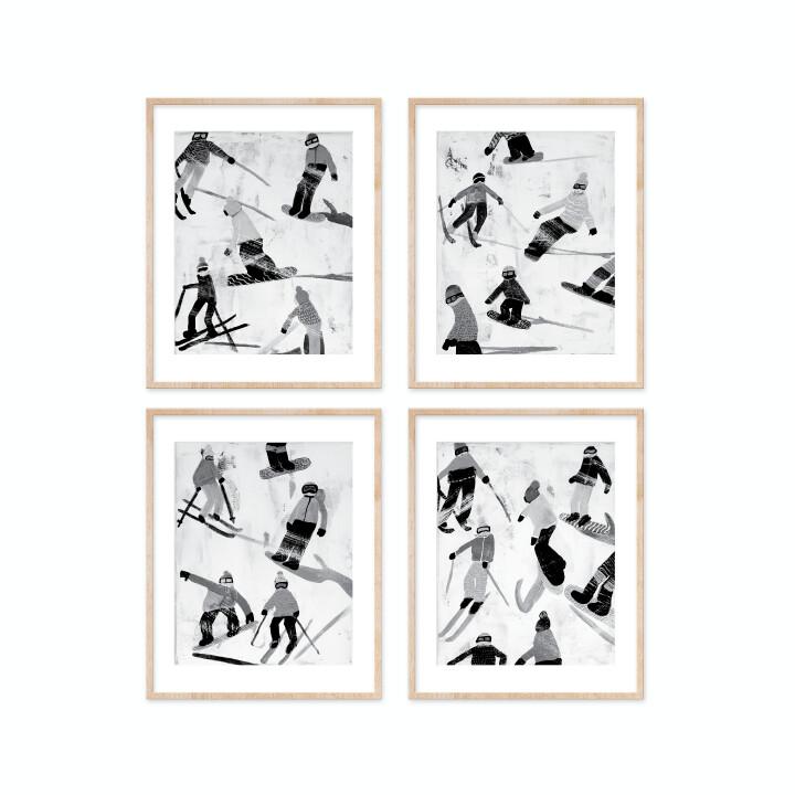 Slope Party Prints - B+W Set of 4