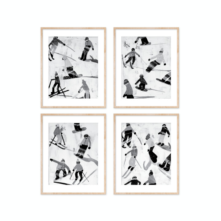 Slope Party Prints - B+W Set of 4