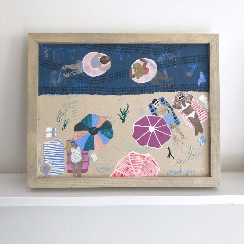 Seaweed Sail Away (11x14) Framed