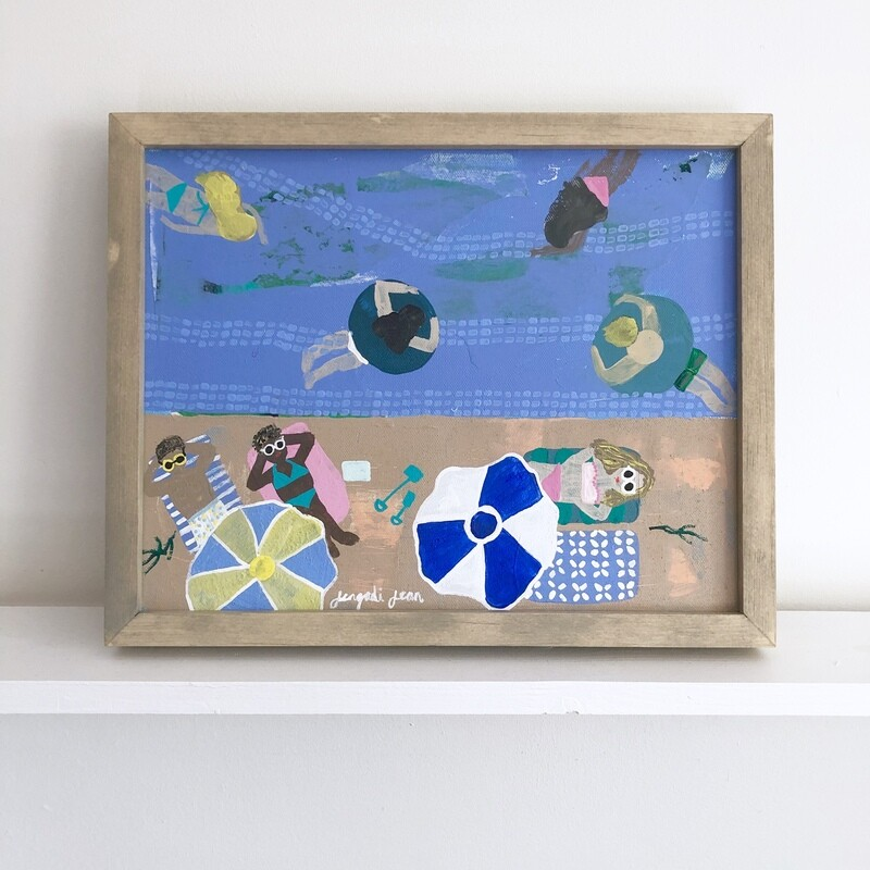 Splish Splash, Beach Bash (11x14) Framed
