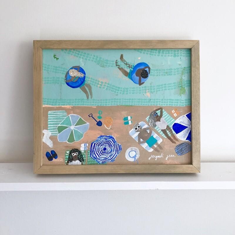 Minty Daydream (11x14) Framed