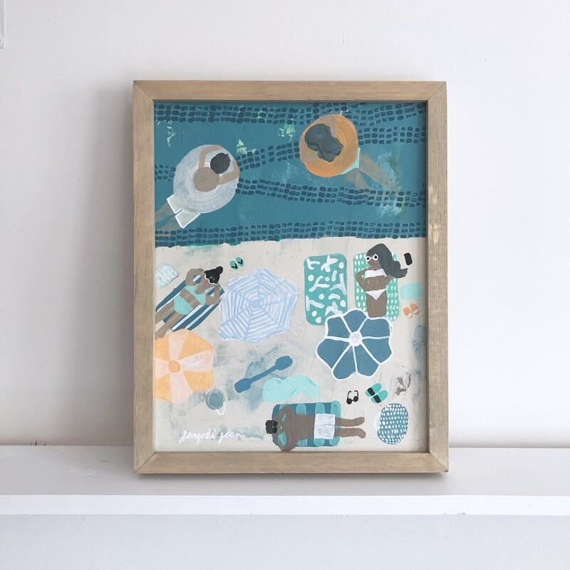 Won't You Teal Me to the Beach (11x14) Framed