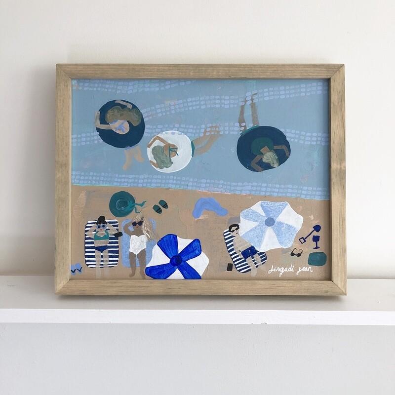 Something Beachy Something Blue, Part Deux (11x14) Framed