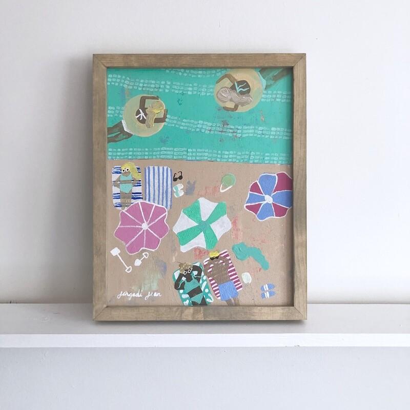 Green Goddess Bay (11x14) Framed