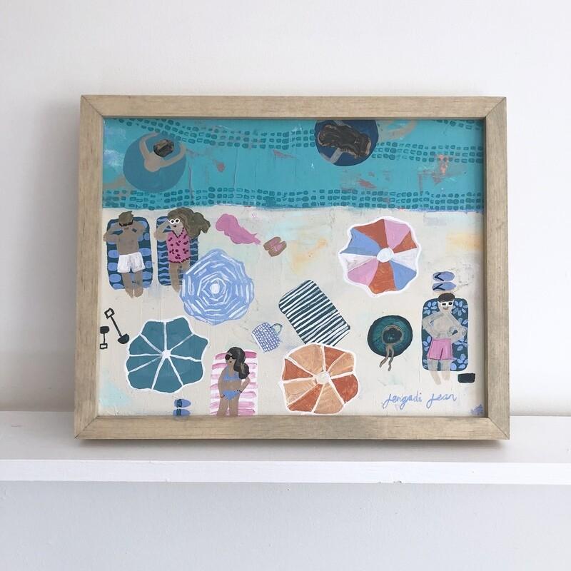 Best Life, Beach Version (11x14) Framed