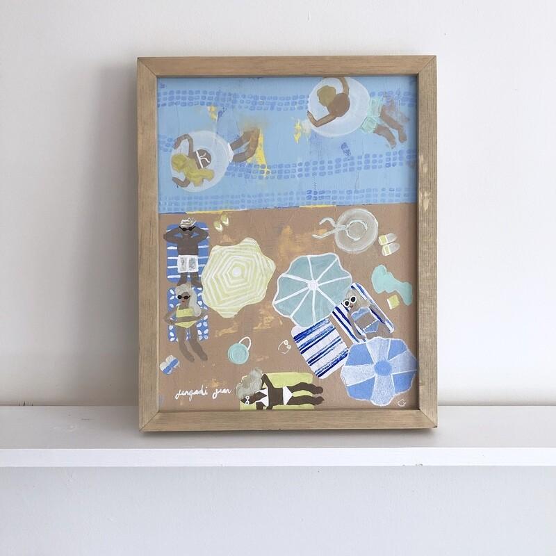 Beach Blues (11x14) Framed