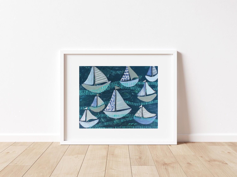 Navy Sailboats