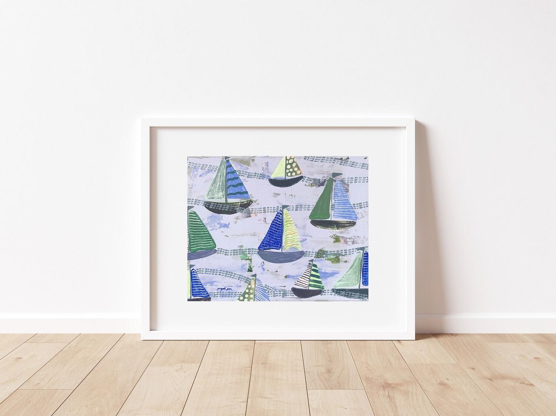 Baby Blue Sailboats