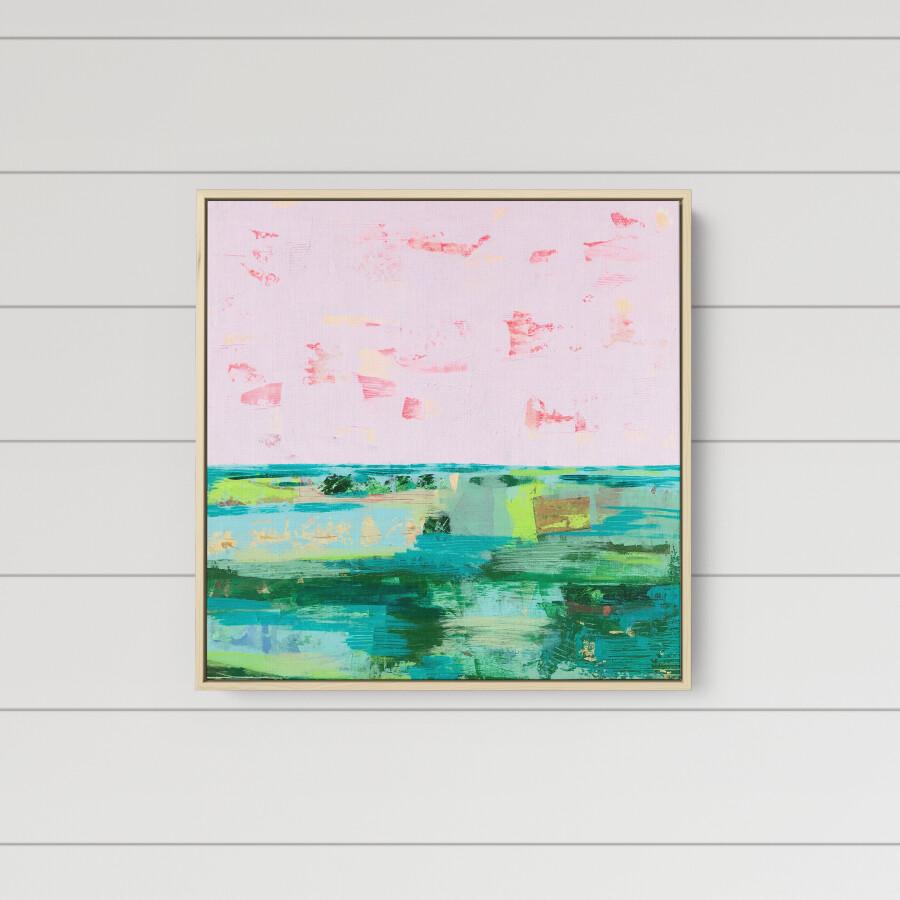 Pink Pebble Beach (24 x 24)