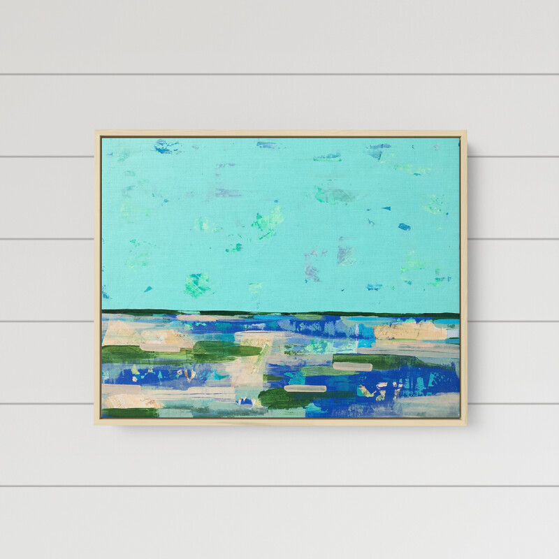 Minty Moonlight Bay (24 x 30)