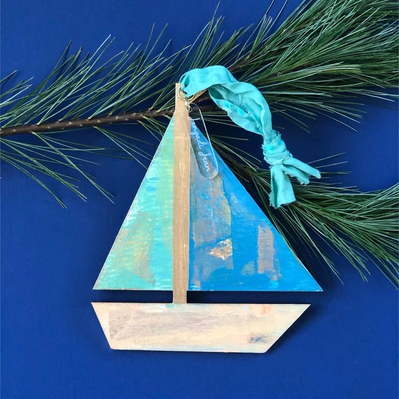 Sailboat Ornament No. 6