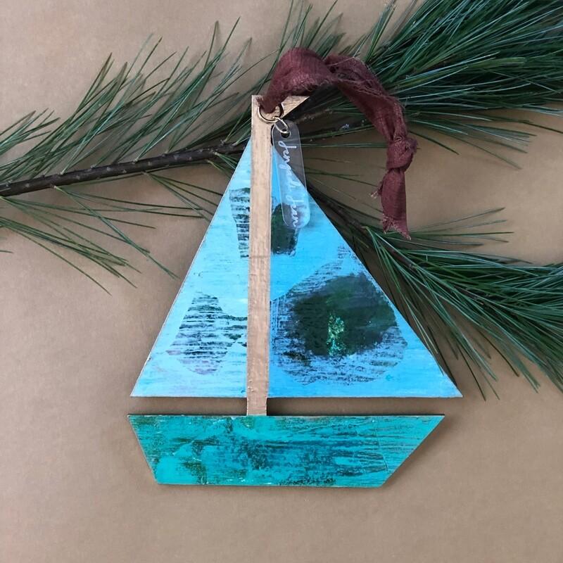 Sailboat Ornament No. 5