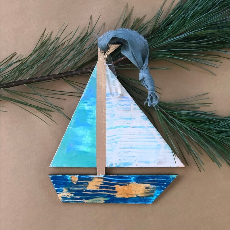Sailboat Ornament No. 10