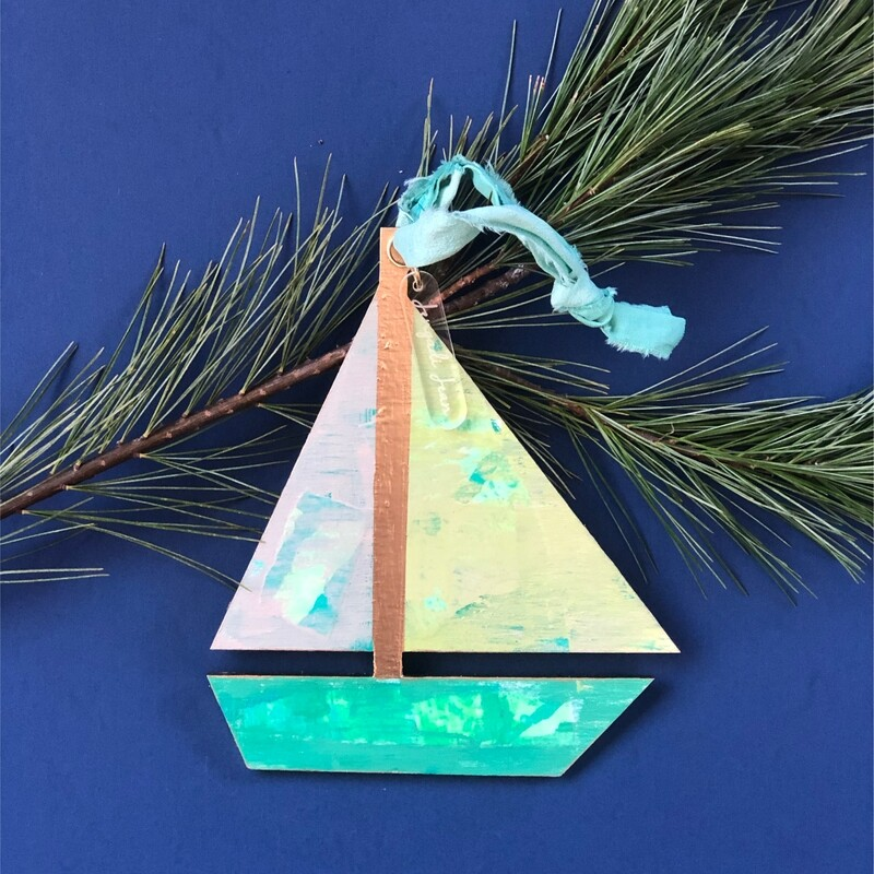 Sailboat Ornament No. 2